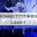 PCMAXにサクラや業者はいるのか?